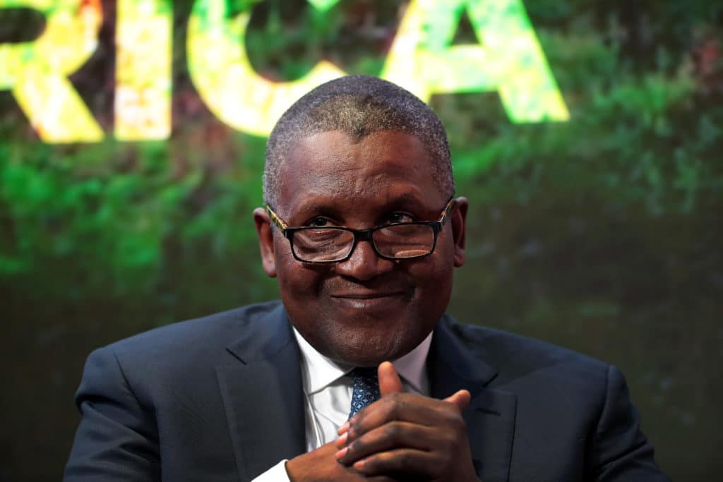 Aliko Dangote tops Africa's billionaires' list for the tenth time in a row