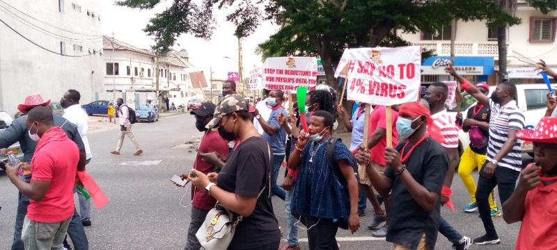 Aggrieved Public Sector Workers embark on demonstration, demand 25% pay increment