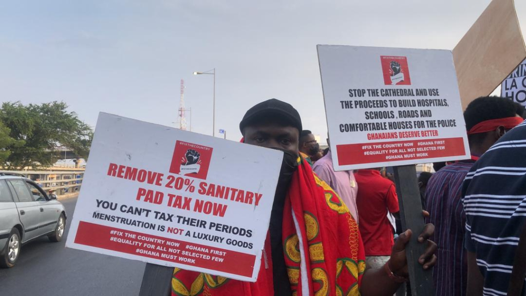 #FixTheCountry protestors hit the streets of Accra