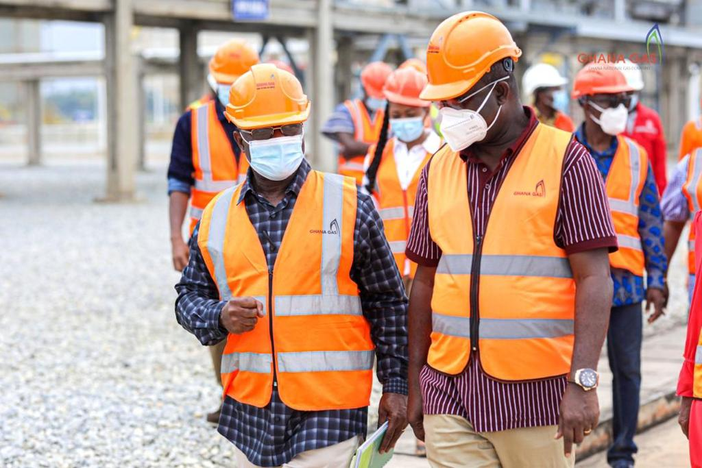 Leadership of Parliament pays working visit to Ghana Gas Plant at Atuabo