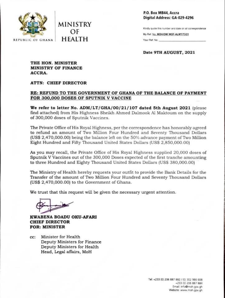 Sputnik V saga: Akufo-Addo's comment on Health Minister's backlash an endorsement of act - Amidu