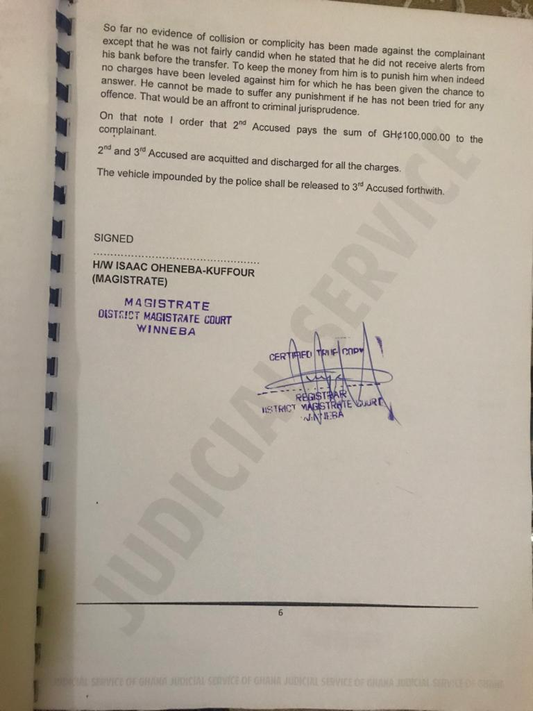 2020 NDC Parliamentary Candidate for Efutu acquitted and discharged
