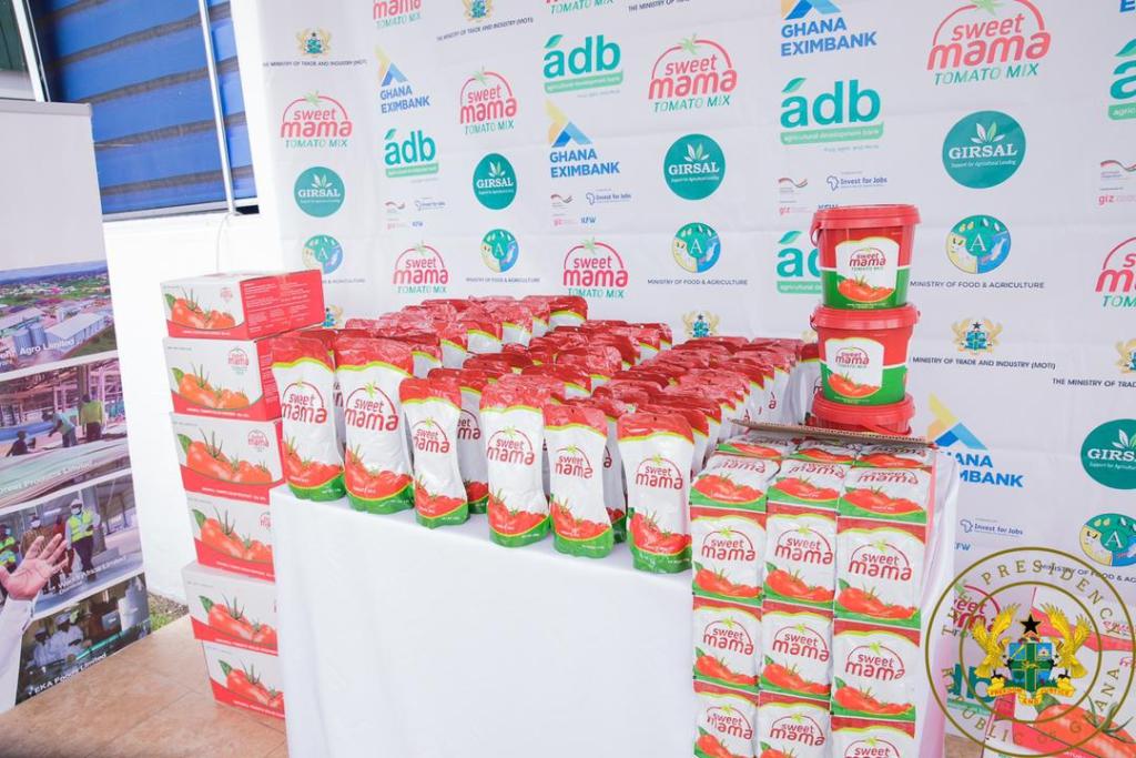 1D1F: Akufo-Addo commissions $16m tomato processing factory in Domfete