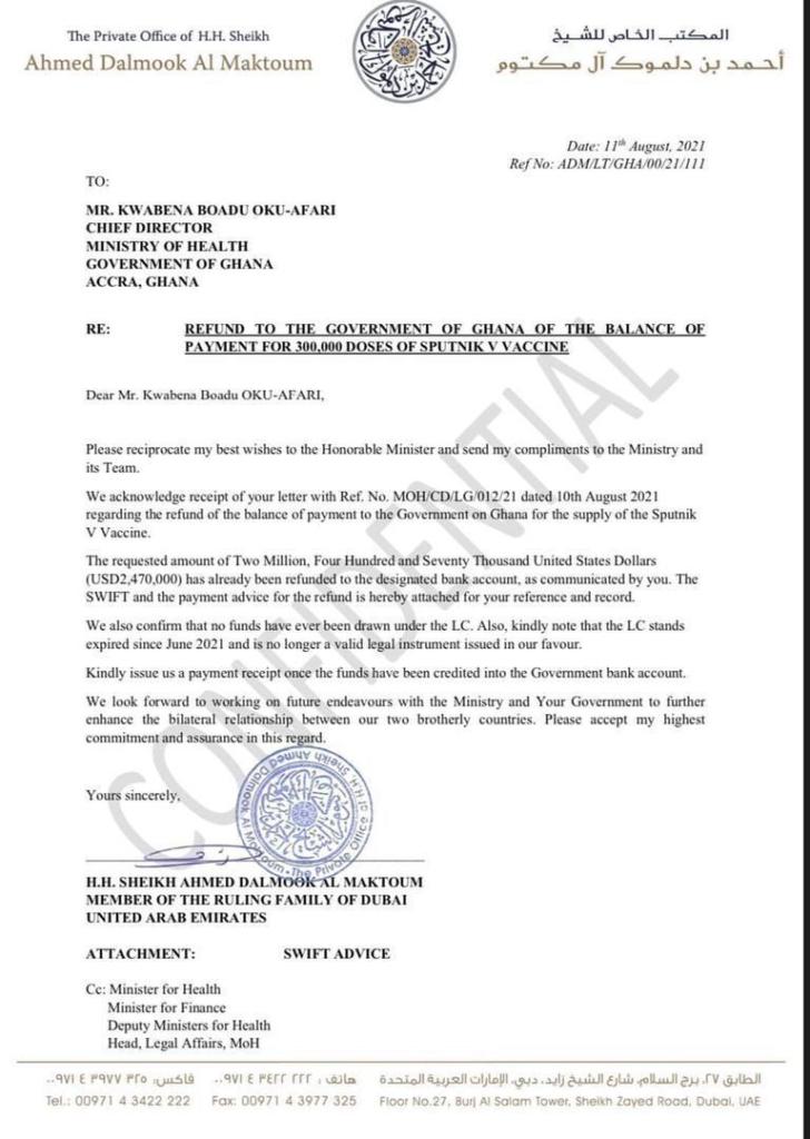 Sputnik V saga: Health Minister didn't lie to committee - Afenyo-Markin insists