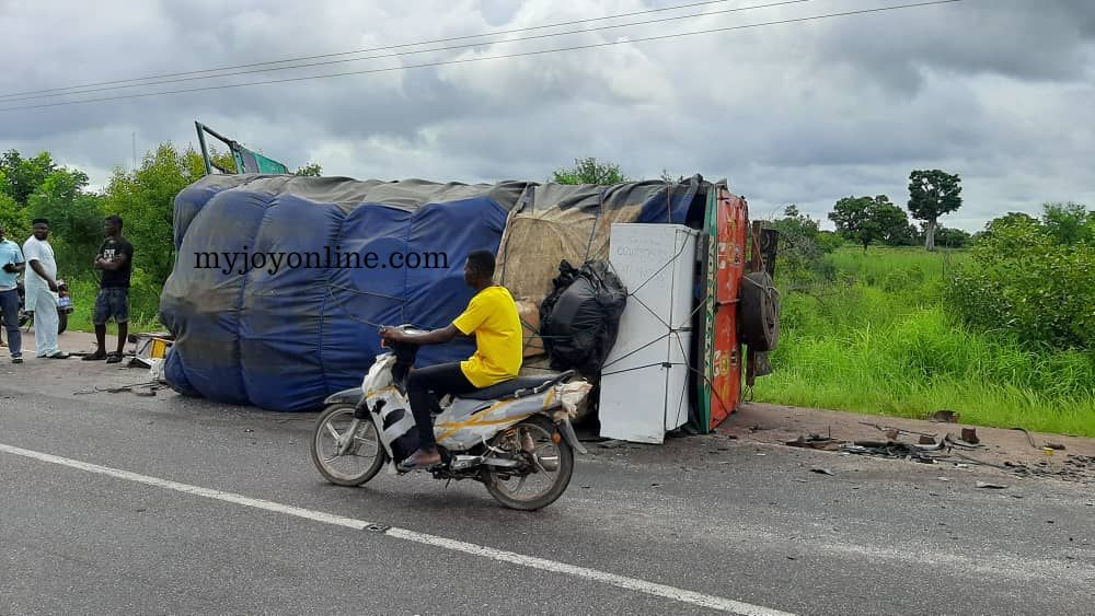 One dead, two others in a critical condition after accident on Buipe road