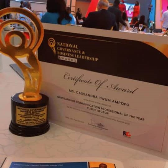 Cassandra Twum Ampofo elected exceptional communication professional of the year - Public sector