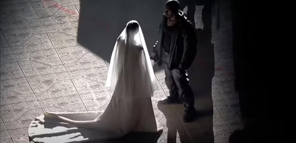 Kanye West sets himself on fire at album listening