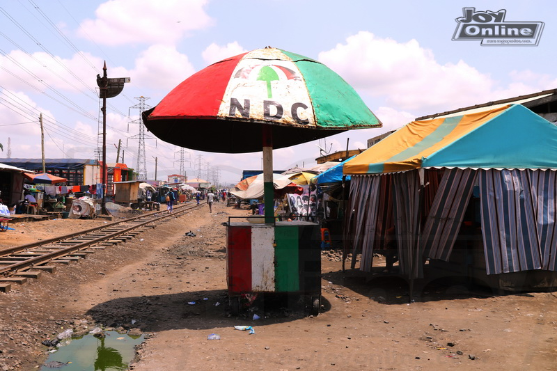 Photos : Ex-convict finds shelter in NDC giant umbrella