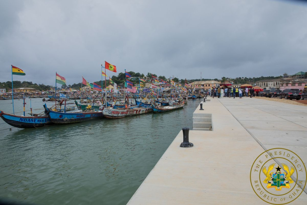 Akufo-Addo inspects work on Dixcove Landing Beach, 46-bed Bogoso Polyclinic