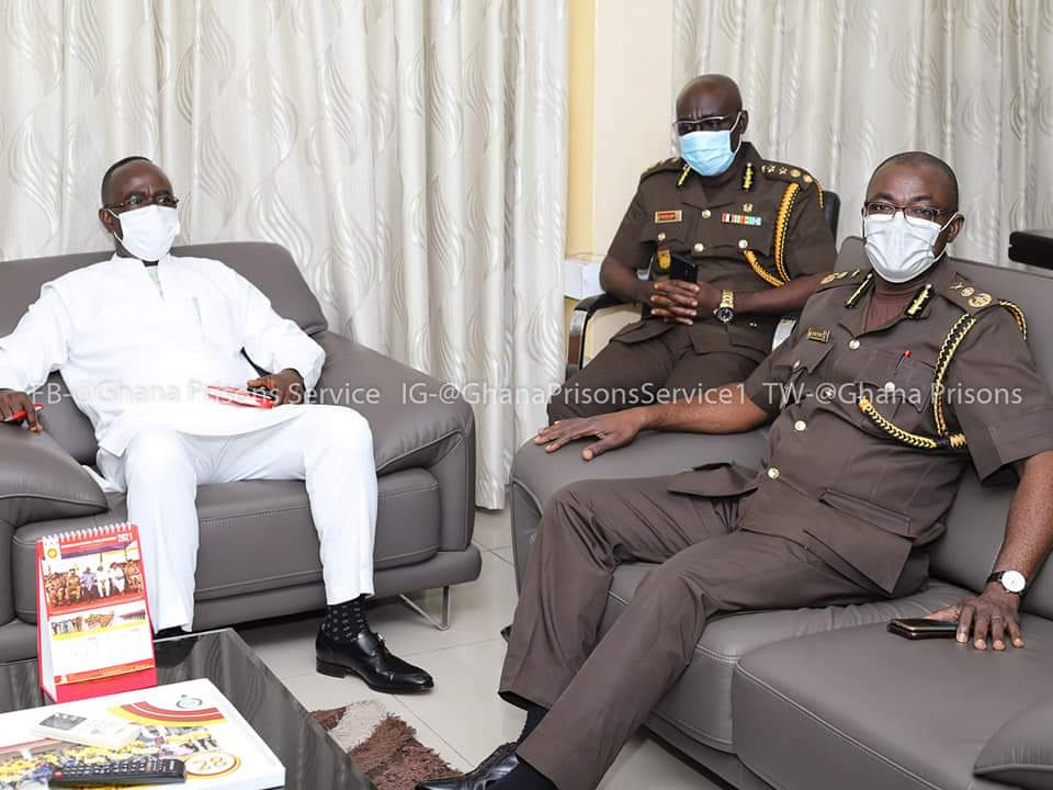 Controller and Accountant General pays courtesy call on Prison's boss