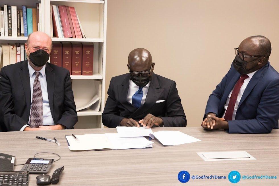 AG Godfred Dame brokers landmark scholarship agreement with Georgetown University