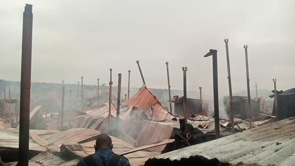 Fire razes down large part of Akim Oda market
