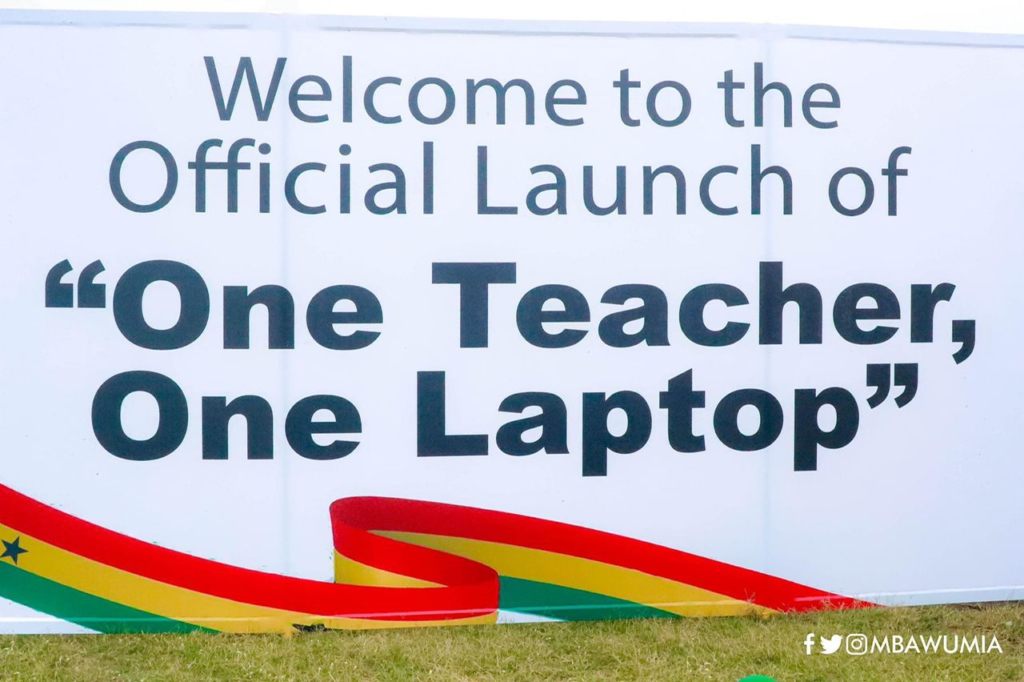 Government through GETFund funds 70% of 'One Teacher One Laptop' initiative