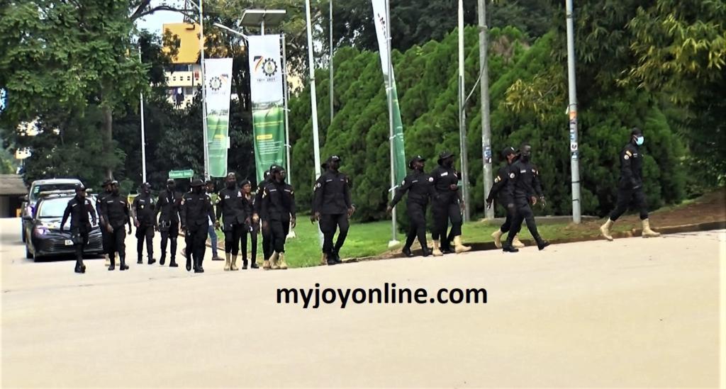 Heavy police presence at KNUST www.myjoyonline.com