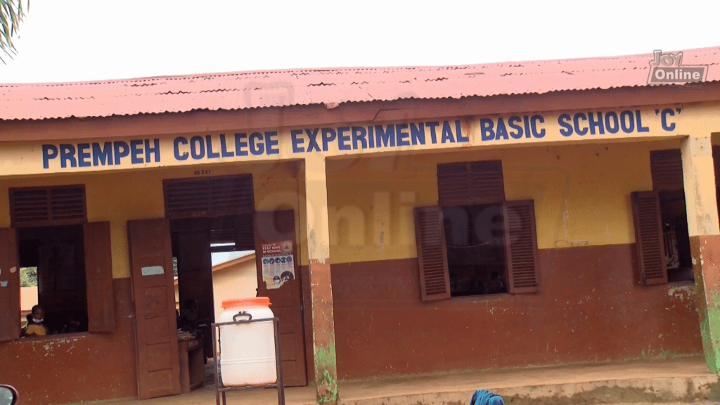 Prempeh College Experimental Basic School needs attention to fix ripped roof