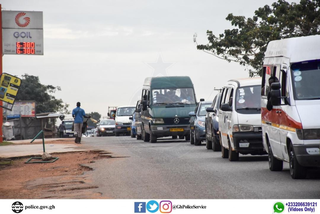 Police impound ten vehicles for flouting road traffic regulations