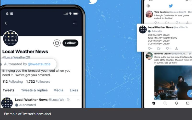 Twitter to label 'good' bot accounts