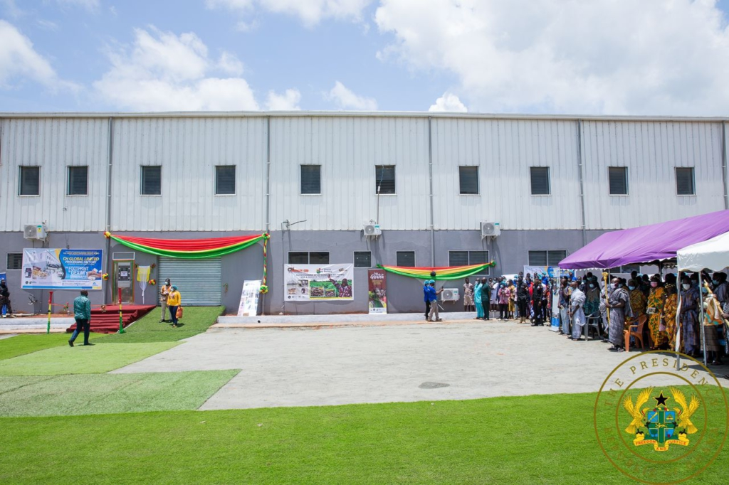 1D1F: Akufo-Addo commissions ¢10m yam and cassava processing factory in Krachi East
