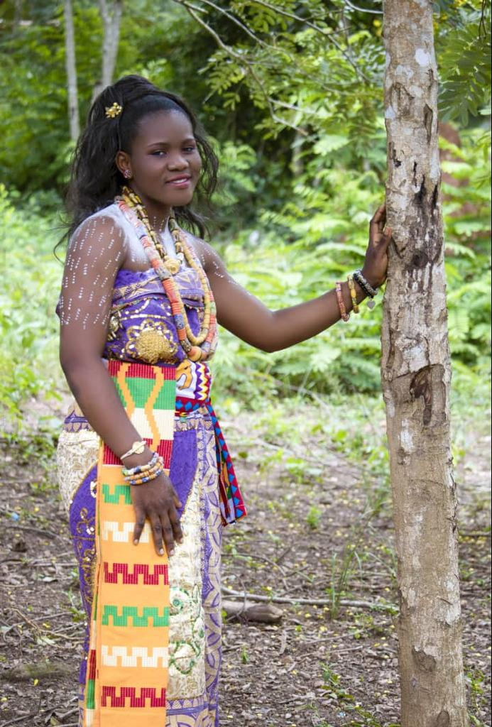 Beauty and colours from Ekumfi Abor puberty rite for young females