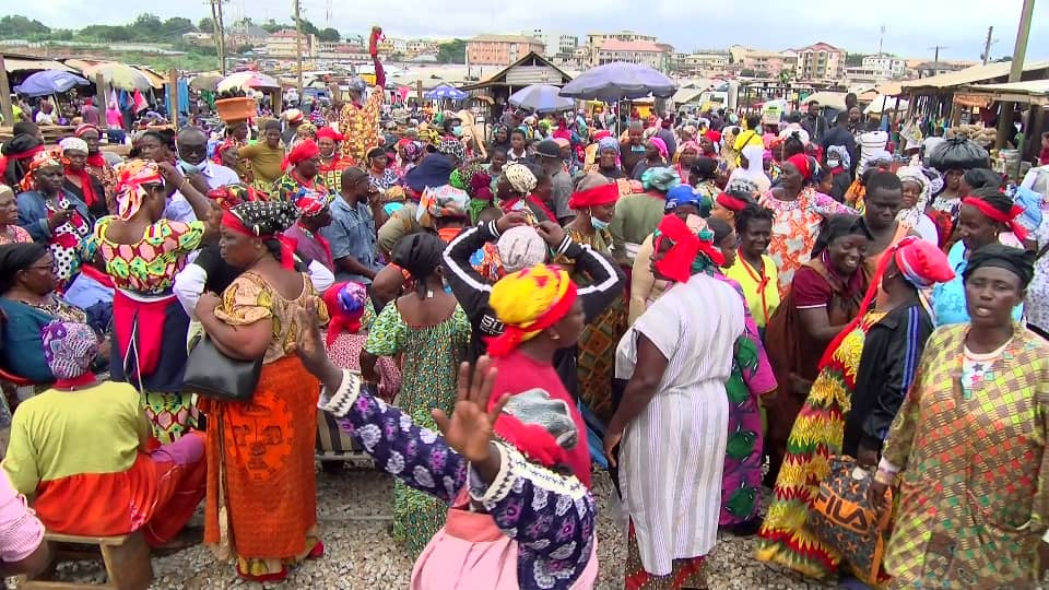 Displaced Central Market traders protest over resettlement plans by Kumasi city authorities