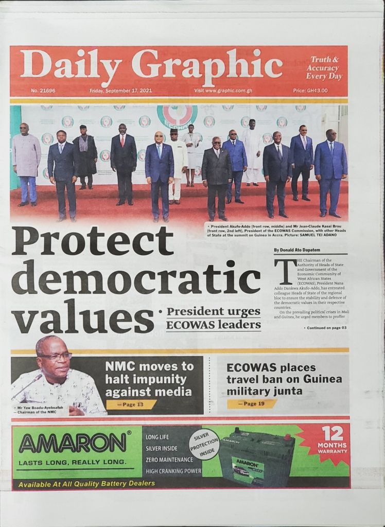 Today's frontpages: Friday, September 17, 2021