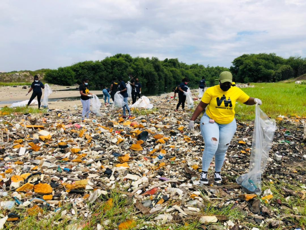 Mckingtorch Africa partners Ezov Ghana, Worship Aid Foundation and Yielding Accomplished African Women for World CleanUp Day 2021