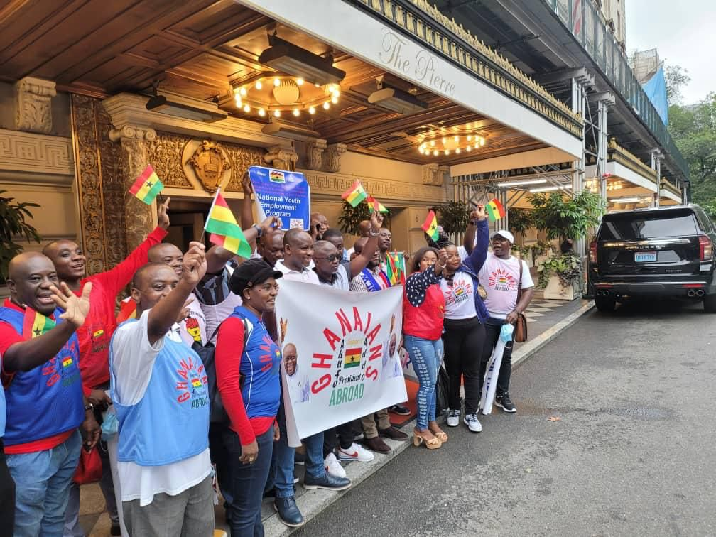 Ghanaians in USA welcome Akufo Addo with massive cheers