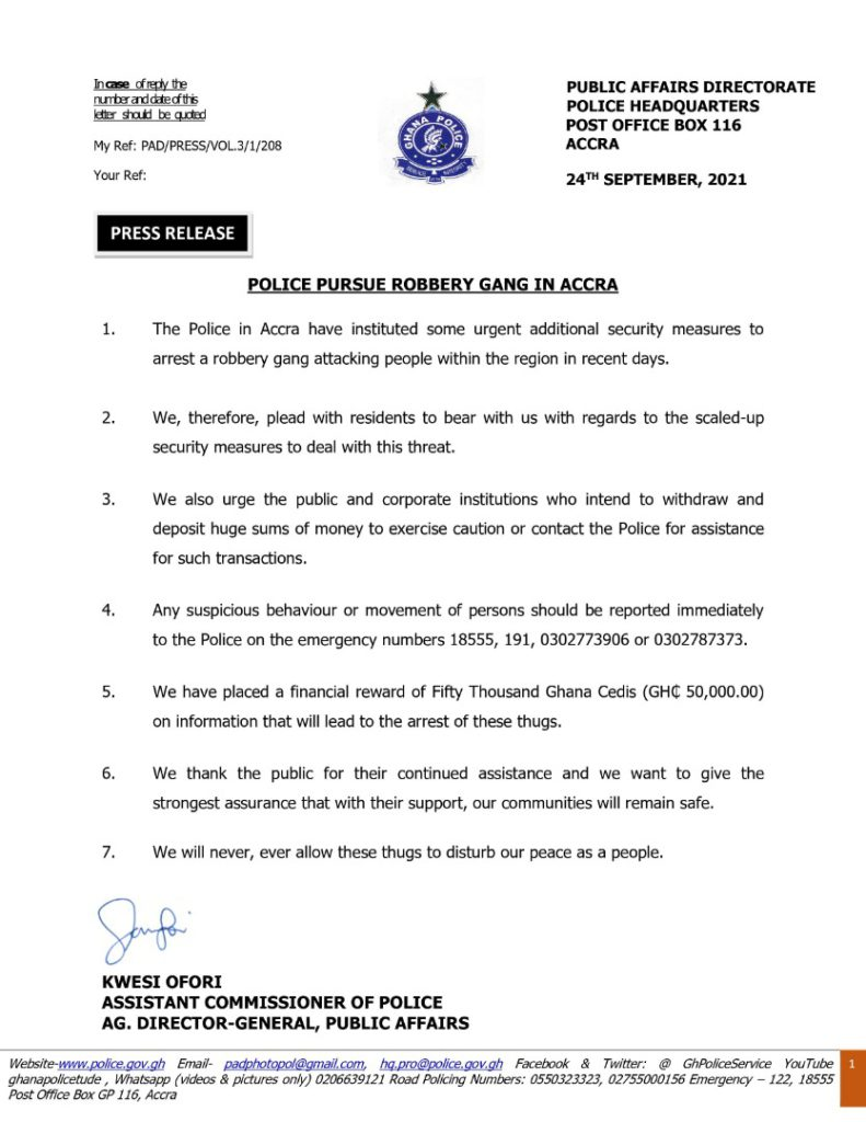 Police advise public to be cautious when making huge financial transactions
