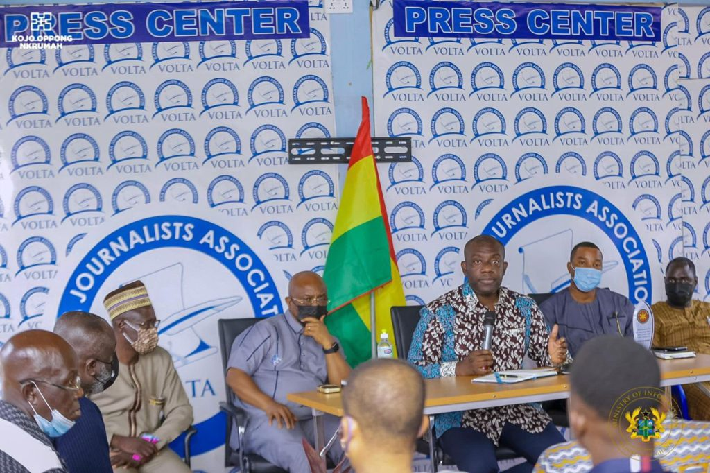 Take advantage of media support programmes - Information Minister to journalists, pres houses