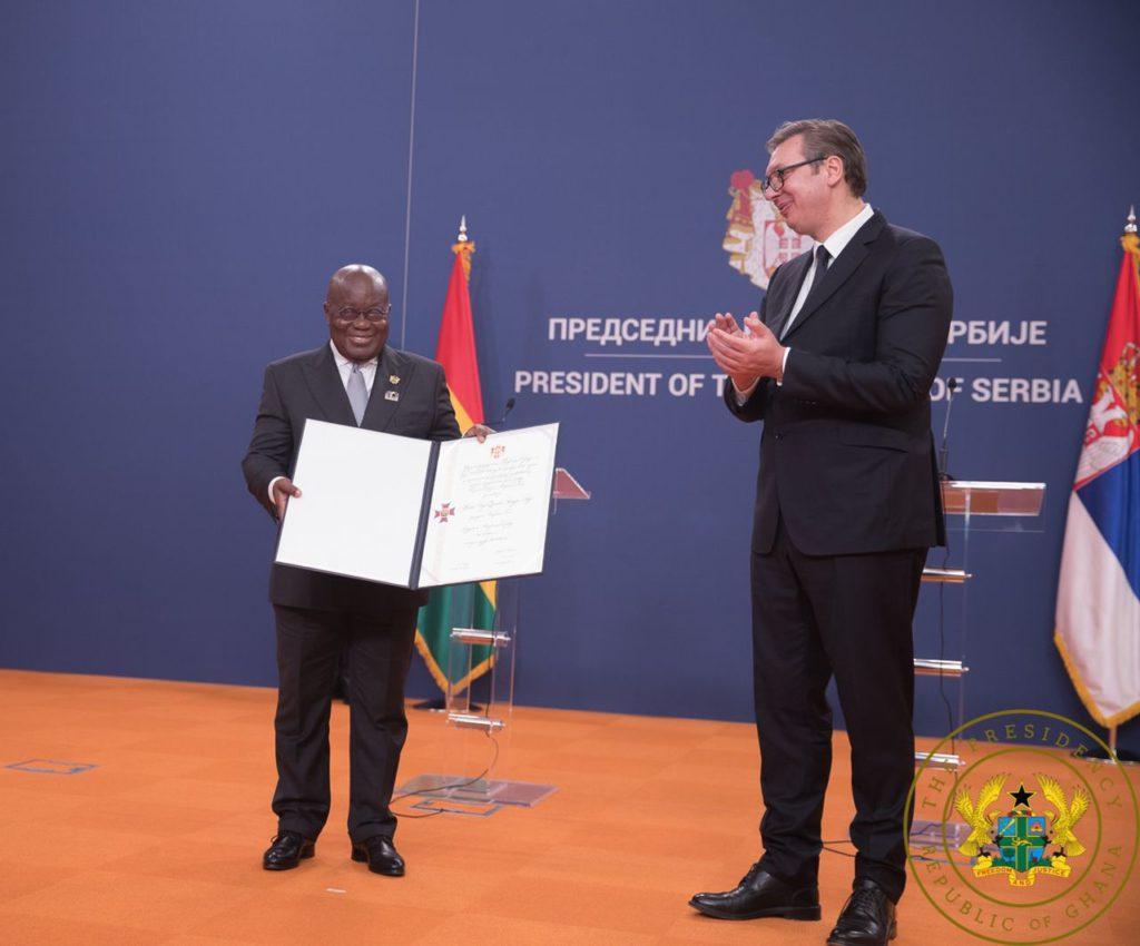 Akufo-Addo receives Serbia's highest national award