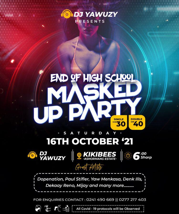 DJ Yawuzy set to host 'End Of High School Masked Up Party'