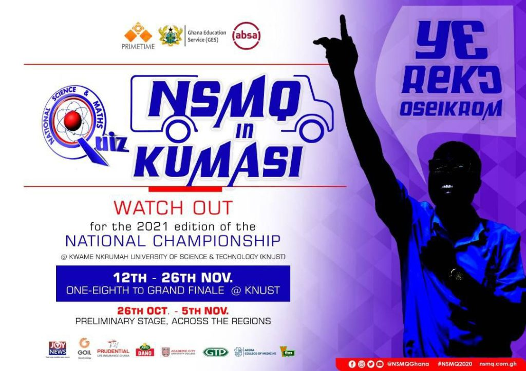 NSMQ2021 National Championship moves to Kumasi for the first time