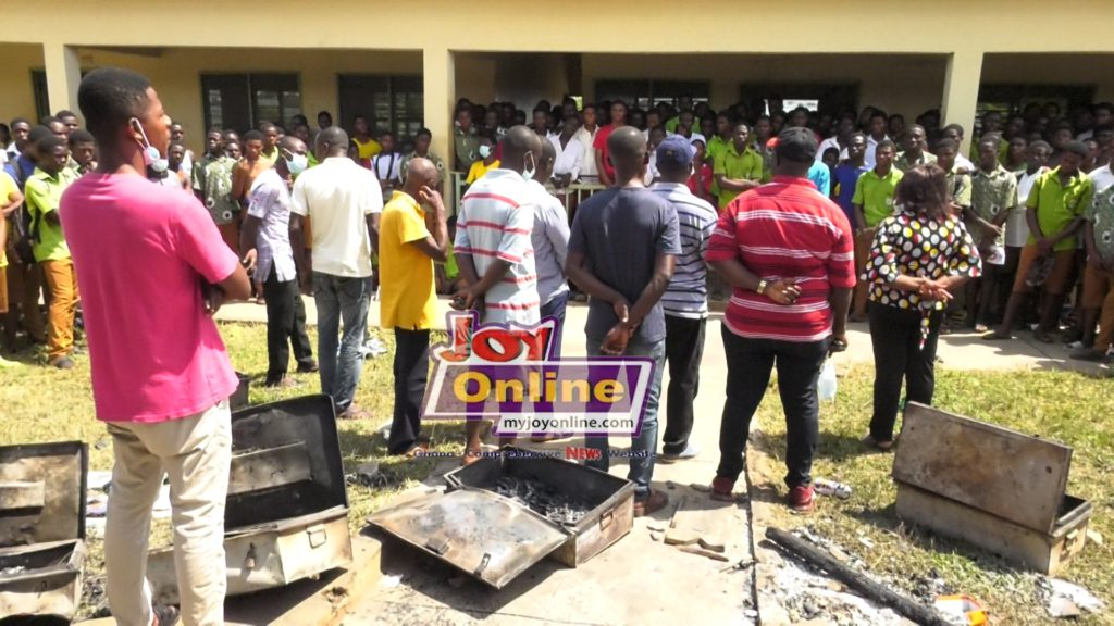 Fire at Nhyinahin SHS displaces over 100 students
