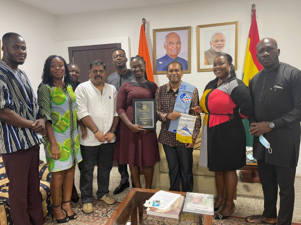 Rotary Club inducts Indian High Commissioner to Ghana